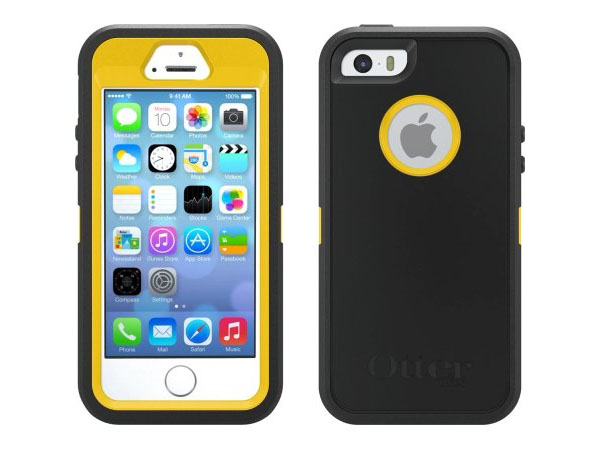 Yellow Black OtterBox Rubber iPhone 5S Case