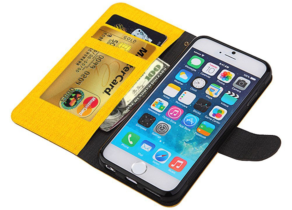Yellow and Black iPhone 6 Wallet Case