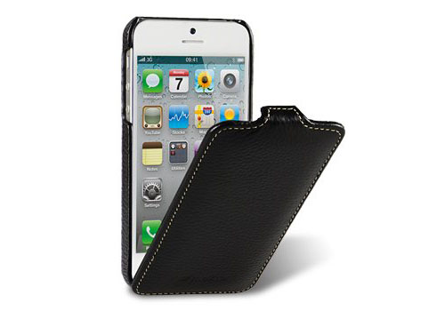 Leather iPhone 5 Flip Case