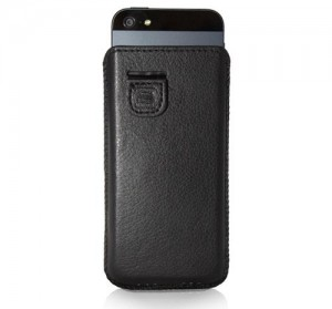 Black iPhone 5S Soft Leather Case