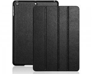 Black Leather iPad Air Case Cover