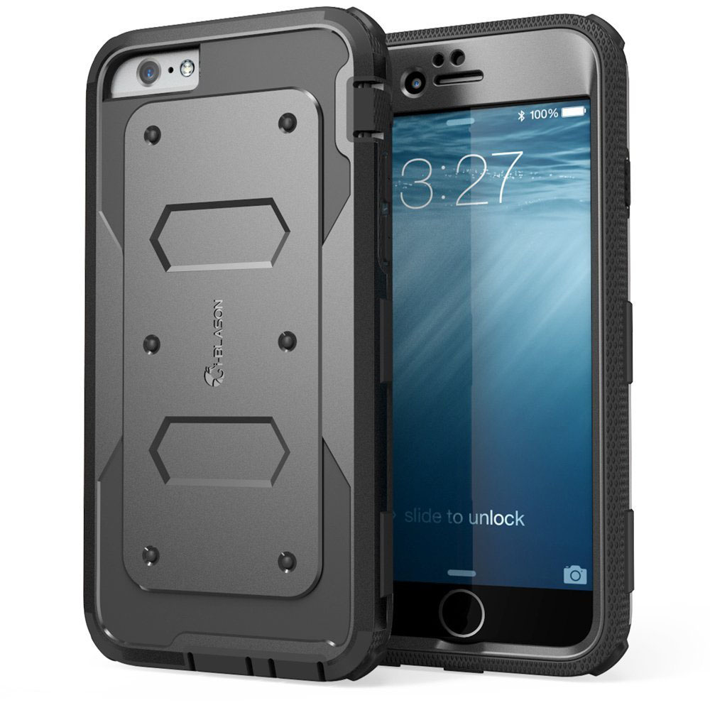 Black Heavy Duty iPhone 6 Plus Case