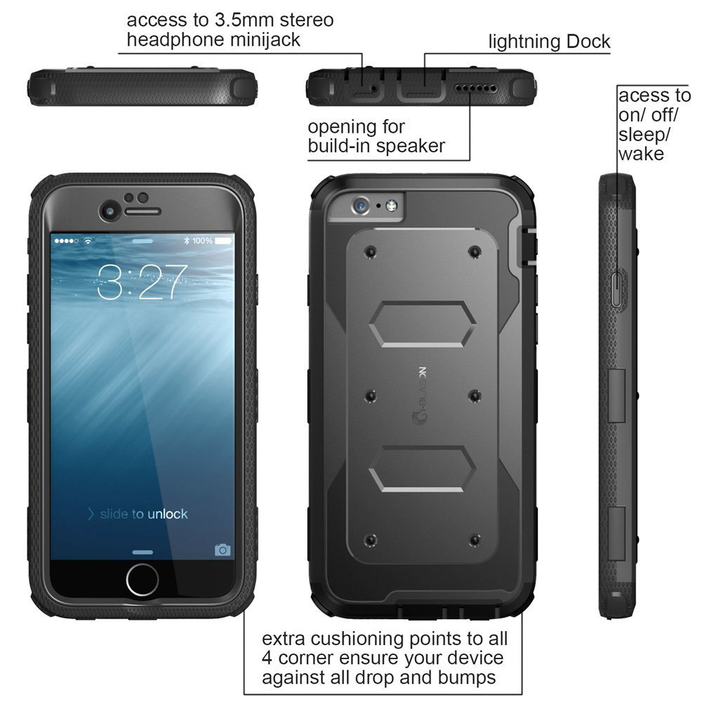 low priced bb09f 35632 Heavy Duty Armorbox iPhone 6 Plus Case By i-BLASON