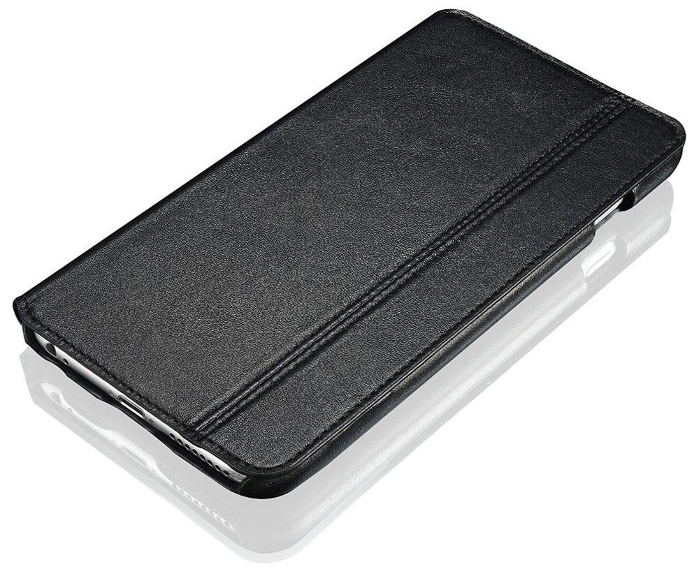 Black Leather iPhone 6 Plus Case