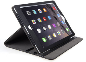 Black Leather iPad Air 2 Stand