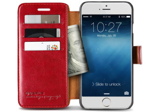 iPhone 6 Plus Wallet Case with Credit Card Slots