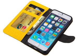 Yellow and Black iPhone Wallet Case