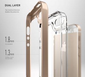 Gold iPhone Clear Case